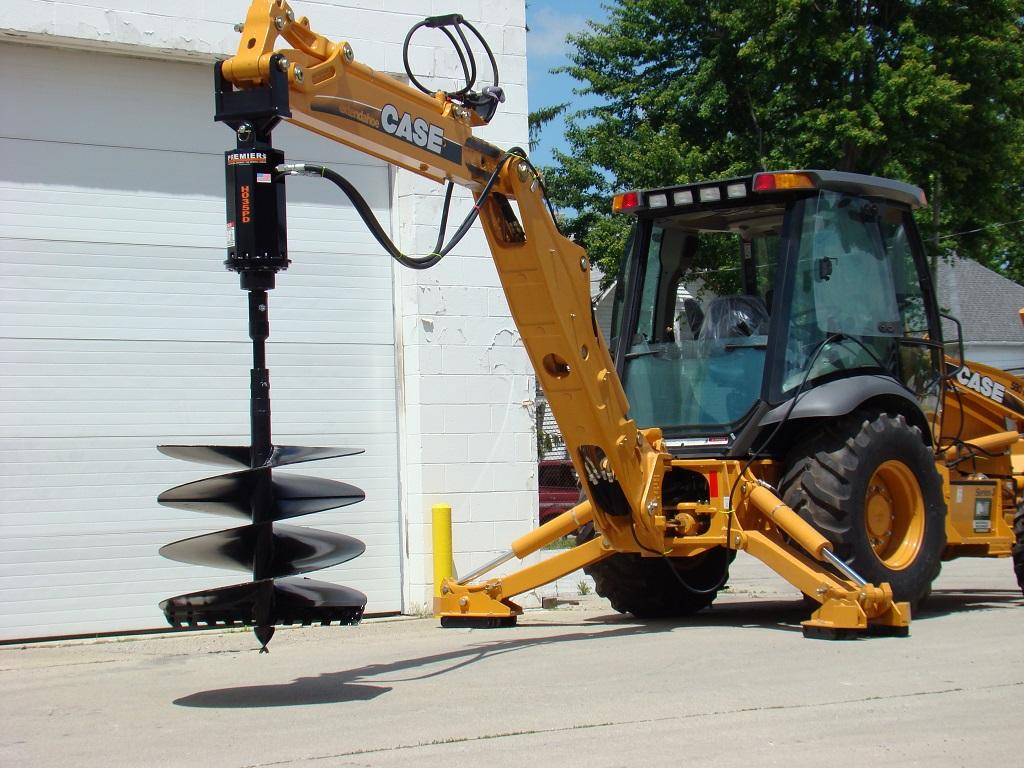 Tractor Backhoe Earth Auger Systems   Premier Auger