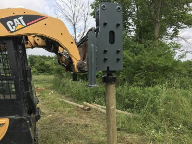 Hydraulic Post Driver Attachment