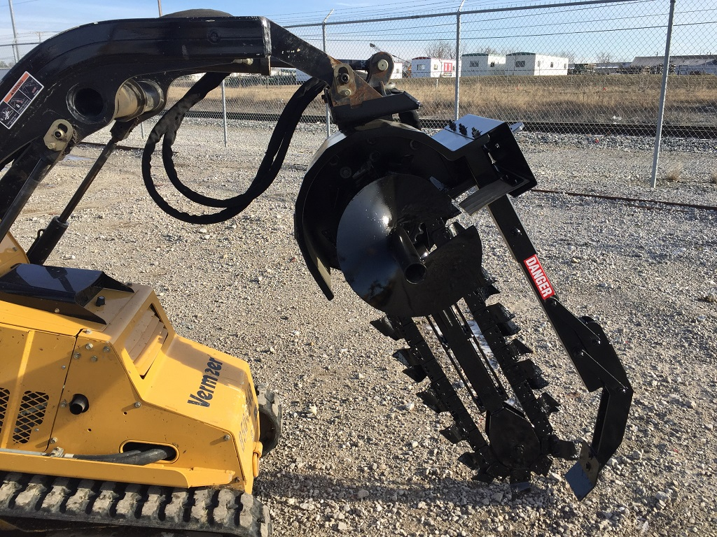 Mini Skid Steer : Mini skid steer trencher premier