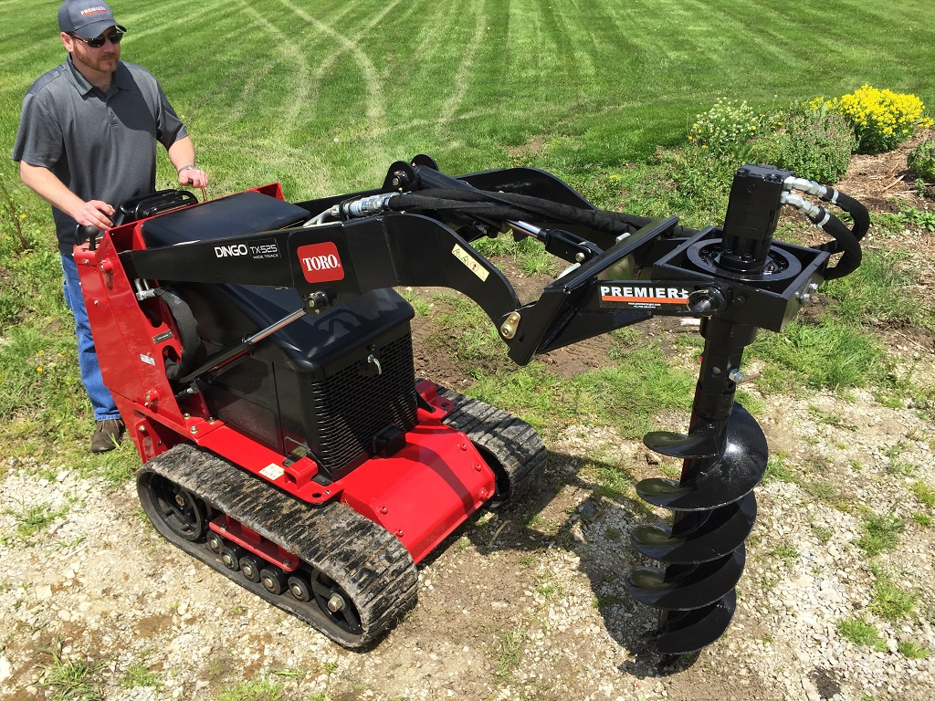 Mini Skid Steer : Mini skid steer earth auger systems premier