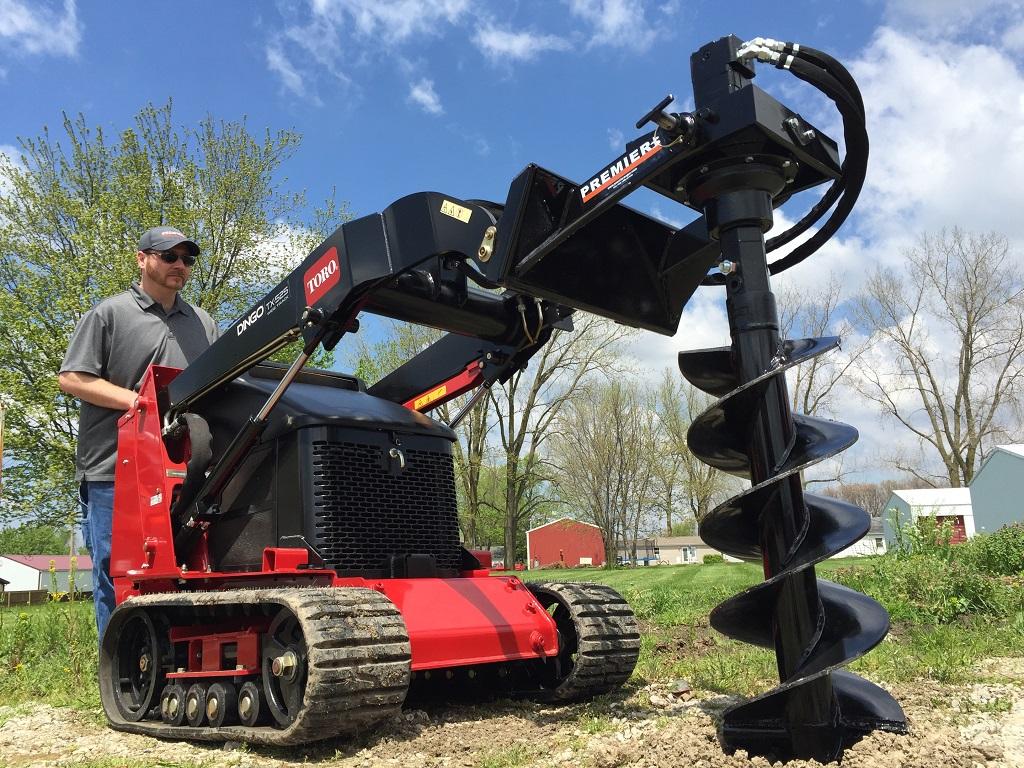 mini skid steer earth auger systems premier auger. Black Bedroom Furniture Sets. Home Design Ideas