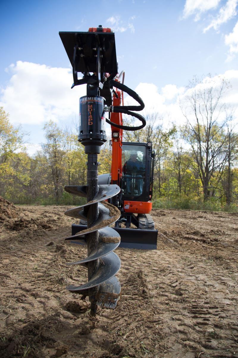 mini excavator earth auger bits premier auger. Black Bedroom Furniture Sets. Home Design Ideas